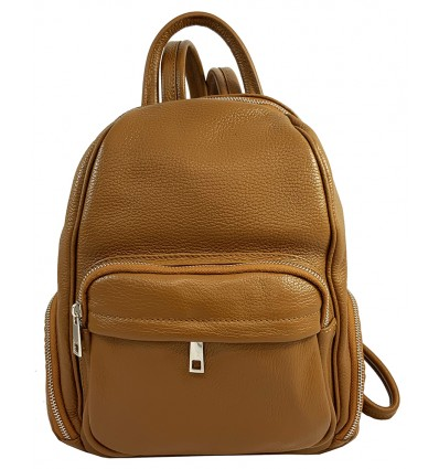 Dollaro leather backpack with multi pockets