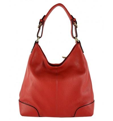 Calf leather shoulder bag