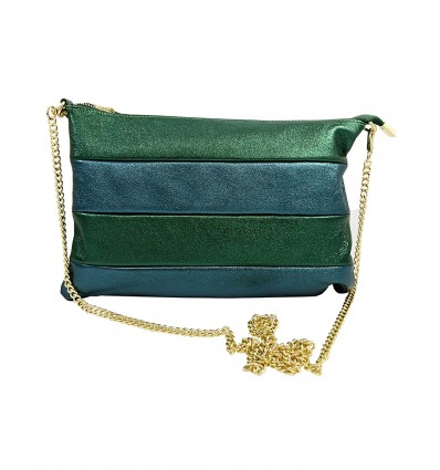 Pochette in laminated leather