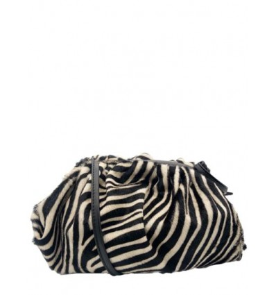 Medium zebra print pony hair pouch BPL9951