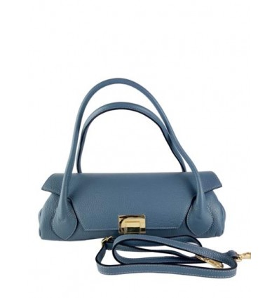 Mini pony hair leather pouch with strap BPL9950
