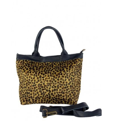 Pony hair leather printed tote BPL9946