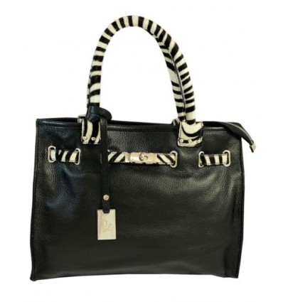 Pony hair handles leather handbag RS-BP8015