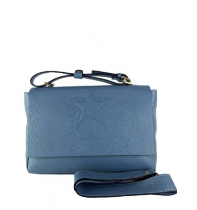 Leather handbag with engraved star RS-BP3917