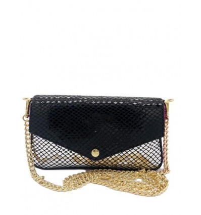 Leather pouch with chain strap BPL9051
