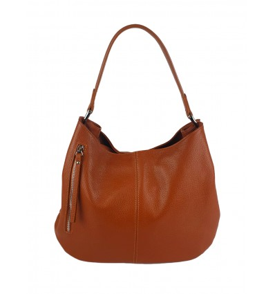 Hammered leather shoulder bag BPL3618