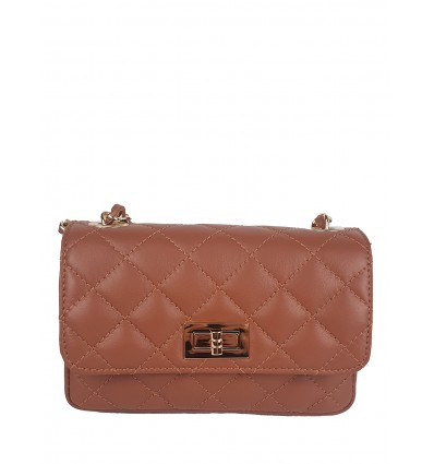 Small leather clutch with stitching BPL3611