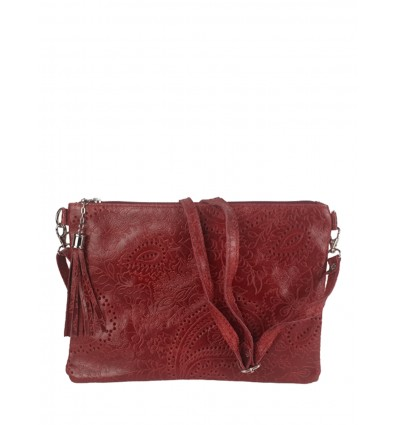 Leather clutch with inlay work BPL3613