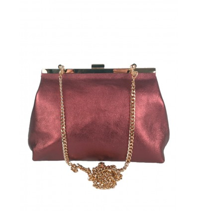 Laminated leather clutch BPL3614