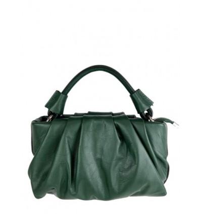 Gathered leather handbag BPL9895