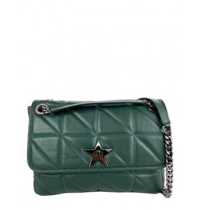 Leather shoulder bag with star buckle BPL3623