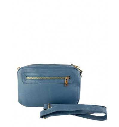 Leather shoulder bag with double zip BPL3627
